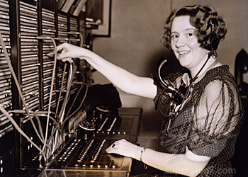 vintage switchboard operator